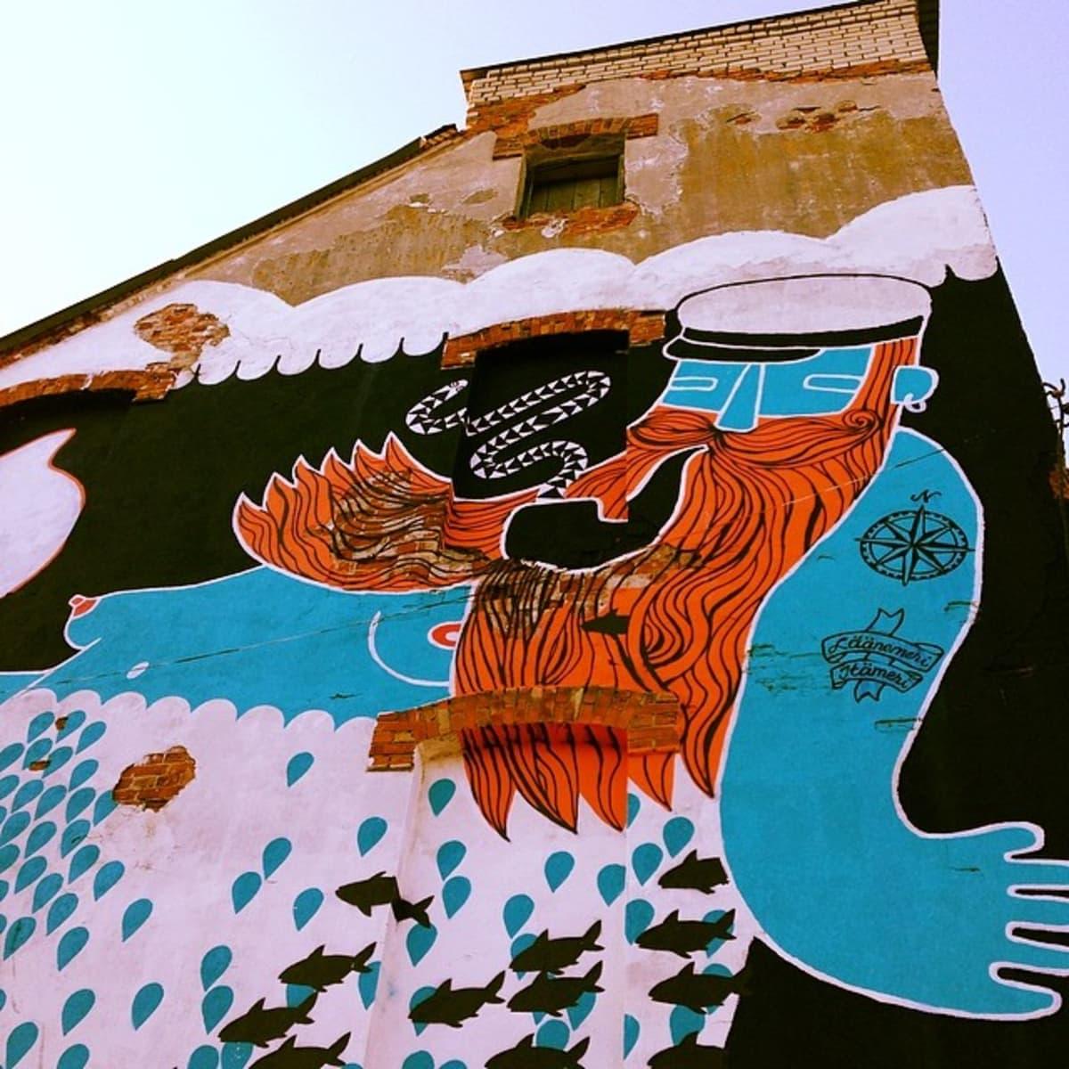 Graffiti, katutaide, seinämaalaus, muraali, kulttuuri, osallistu, merimies,