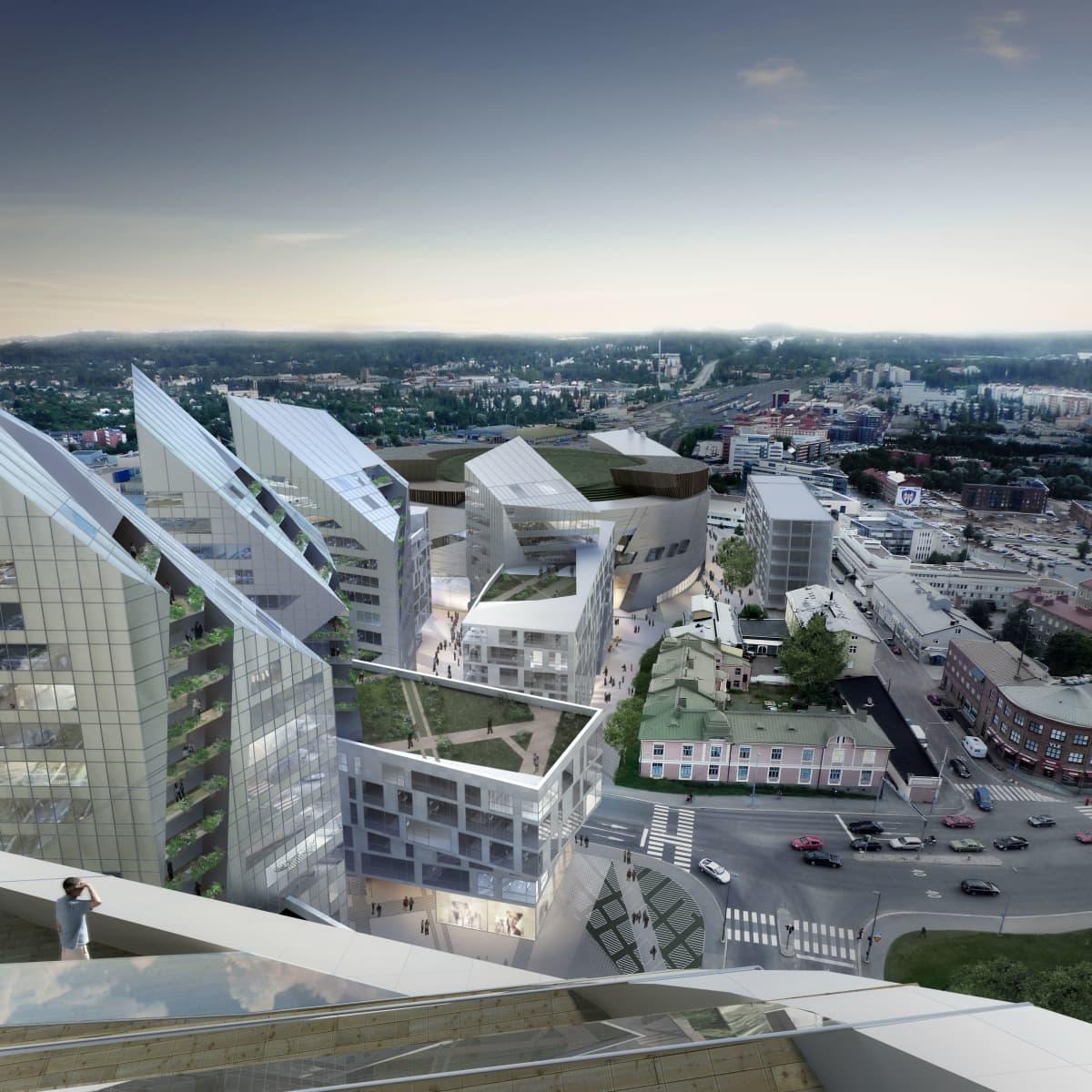 Tampere keskusareena havainnekuva