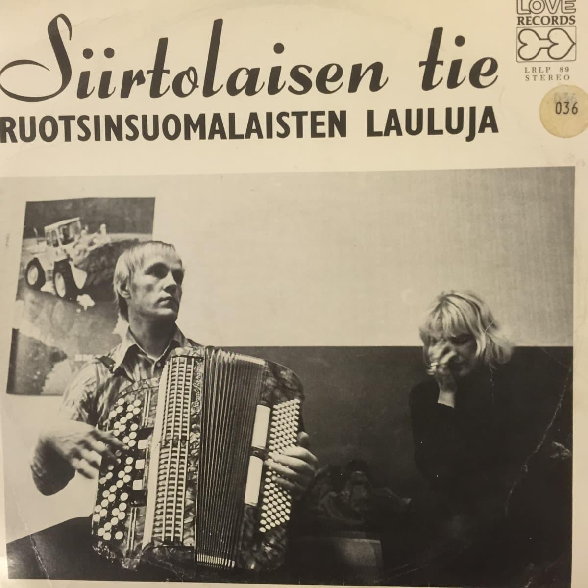 Vuonna 1973 julkaistun lp-levyn Siirtolaisen tie kansi