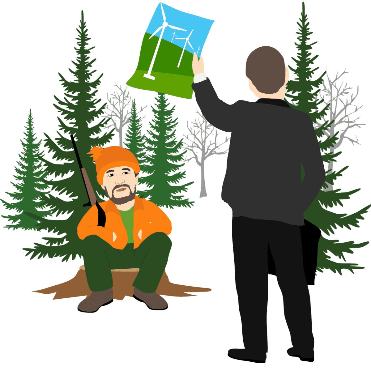 Metsästäjän lobbaaminen -piirros