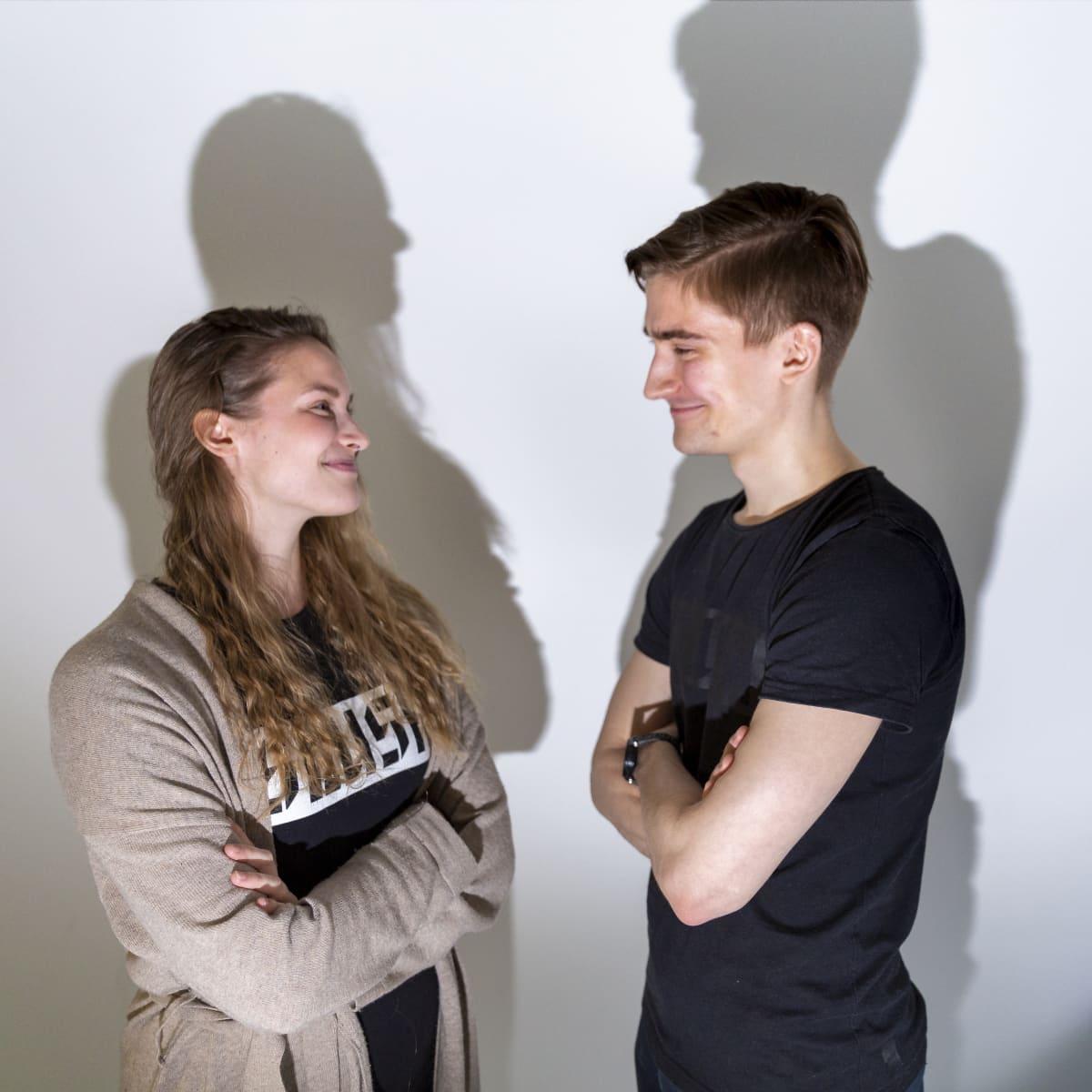 Slushin johtajat Oona Poropudas ja Miika Huttunen.