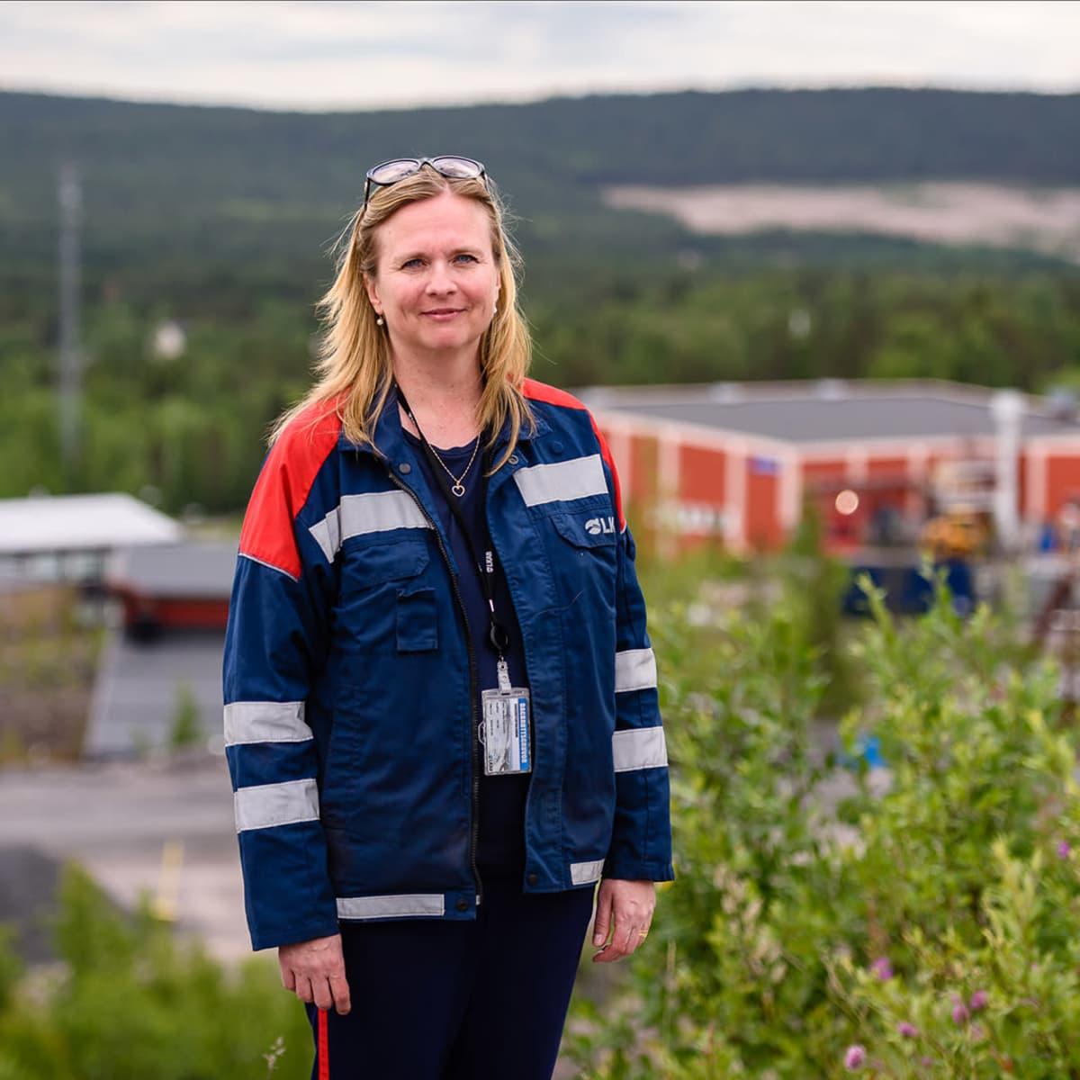 LKAB:N Jällivaaran kaivoksen aluepäällikkö Monika Sammelin.