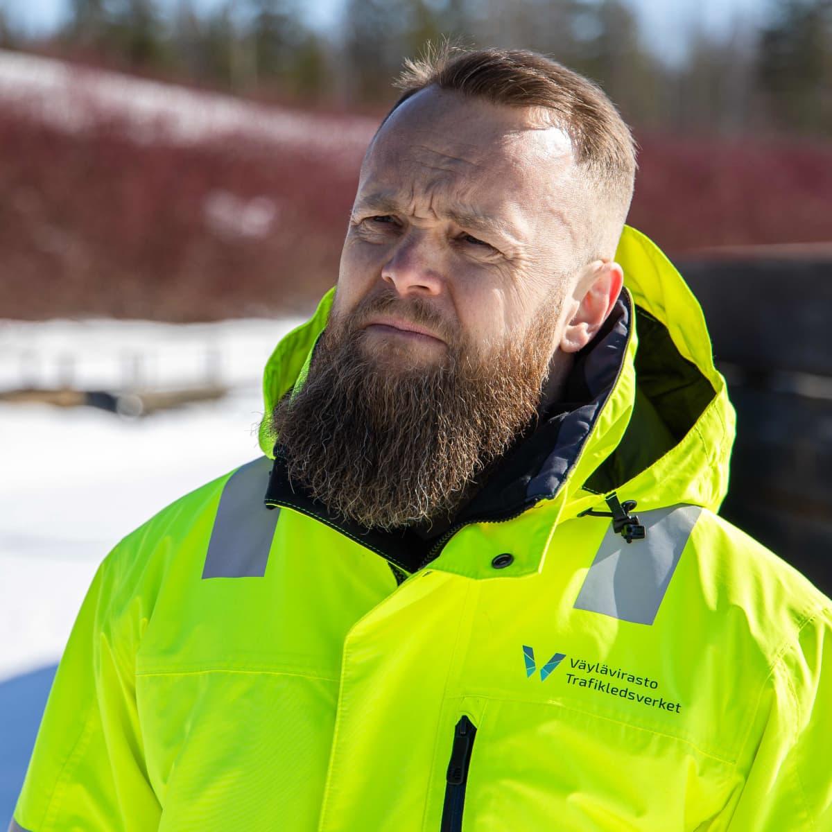Väyläviraston merenkulun asiantuntija Ilari Rainio