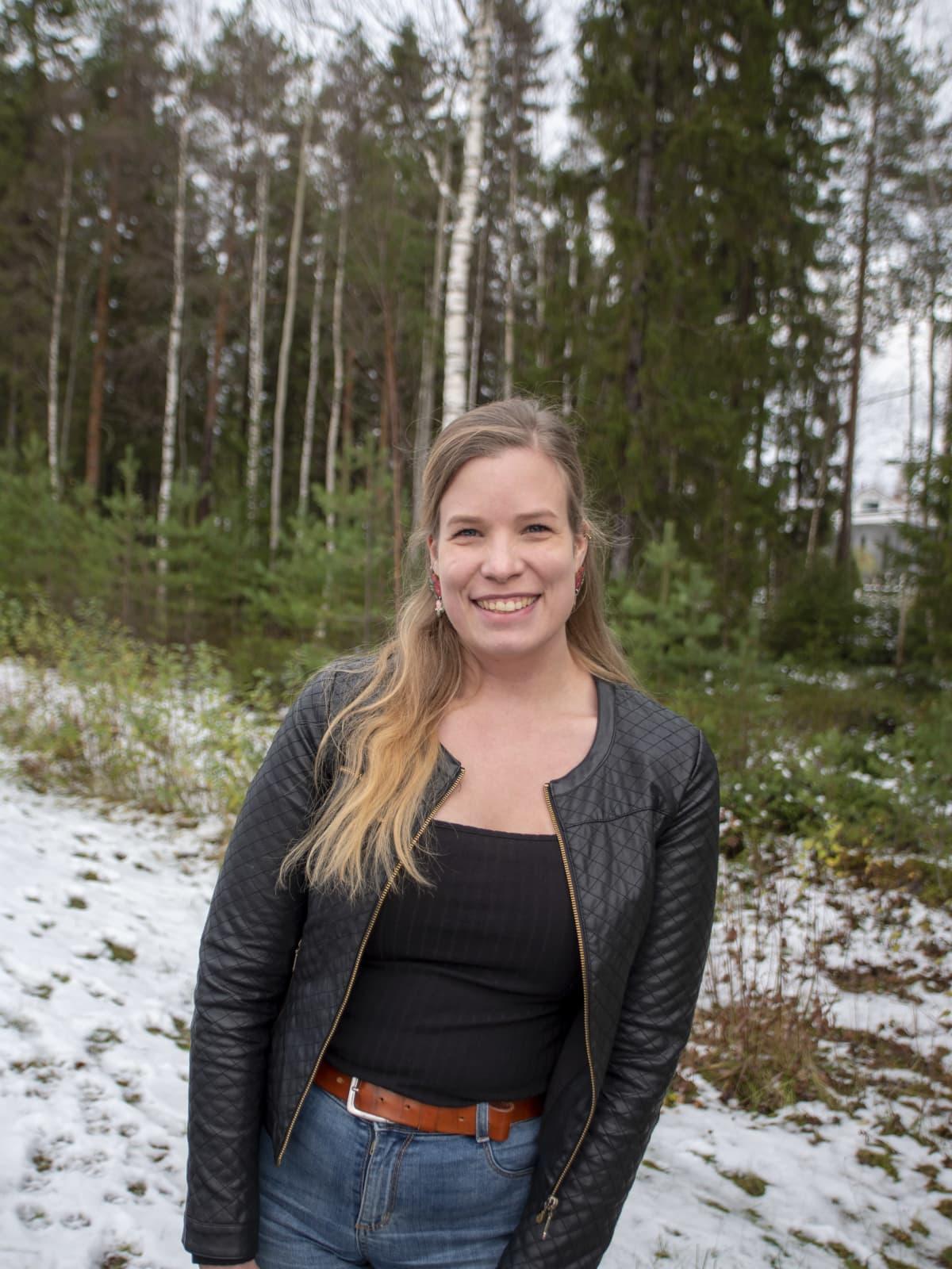 Johanna Wirkkala henkilökuvassa.