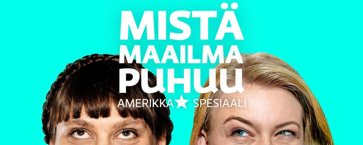 Jenny Matikainen ja Iida Tikka podcast-sarjan kuvassa.