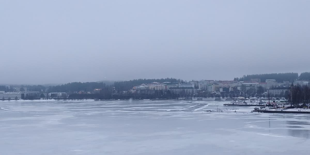 Jyväsjärven retkiluistelurata.