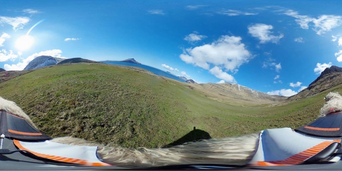 Kuva lammaskameralla kuvatusta 360 asteen videolta.