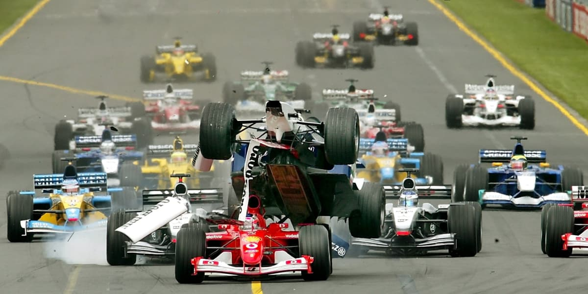 Williamsin Ralf Schumacher kolaroi Australian gp:ssä vuonna 2002.