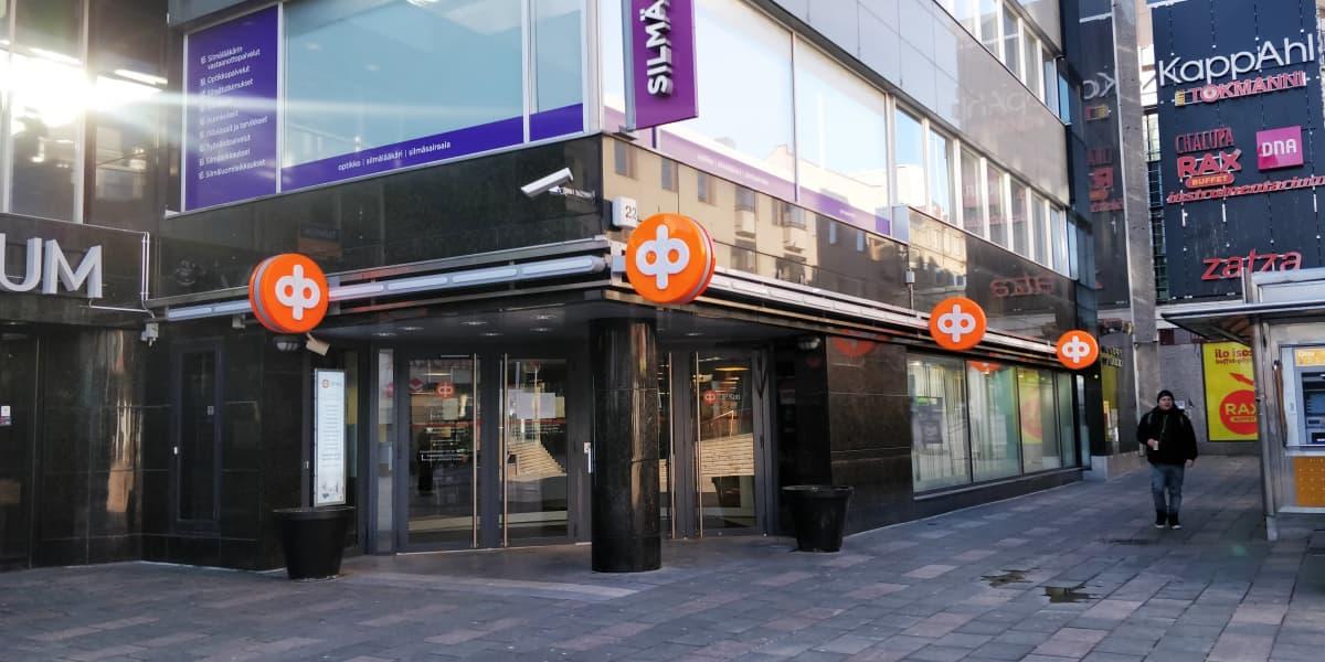 OP Keski-Suomen konttori Jyväskylän keskustassa.