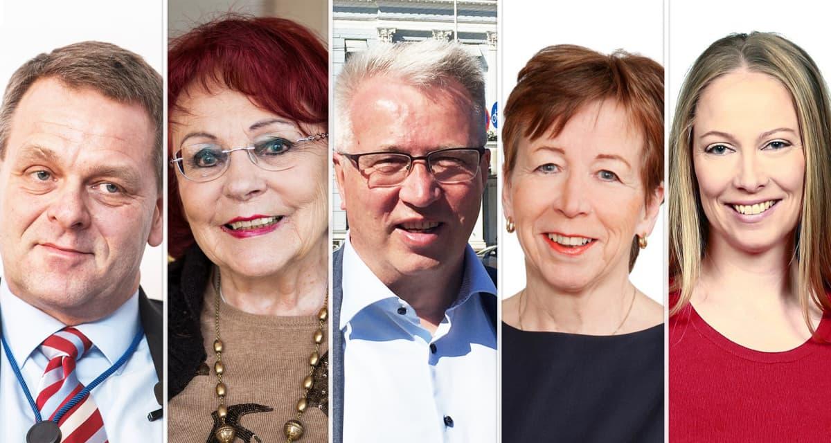 Jan Vapaavuori, Sirpa Asko-Seljavaara, Risto Rautava, Ulla-Marja Urho ja Terhi Koulumies.