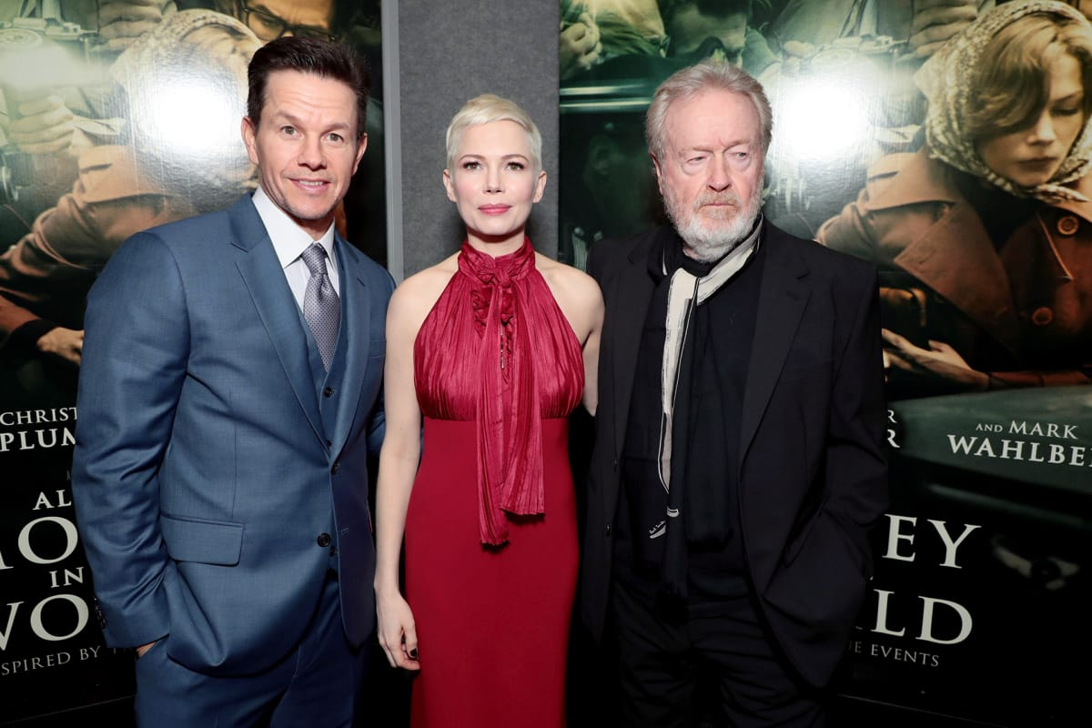 Mark Wahlberg, Michelle Williams ja Ridley Scott