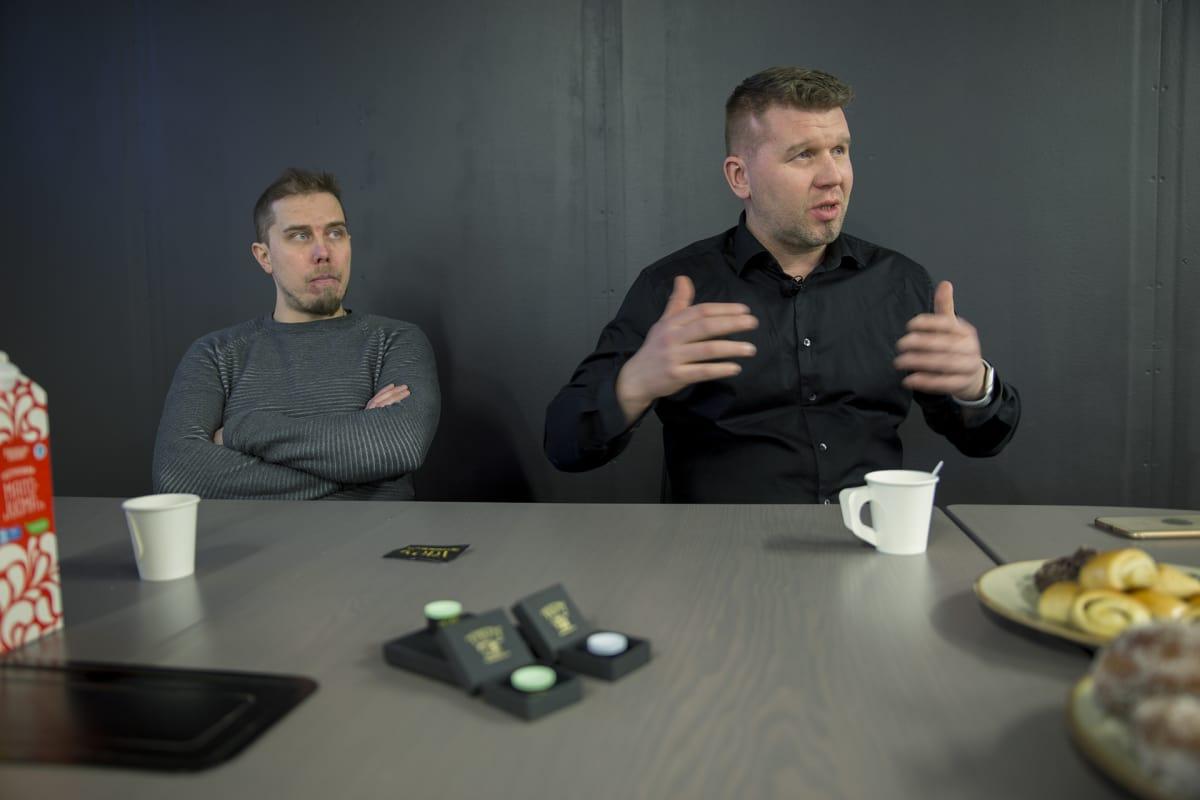 Ali Kinnunen ja Toni Ursin.