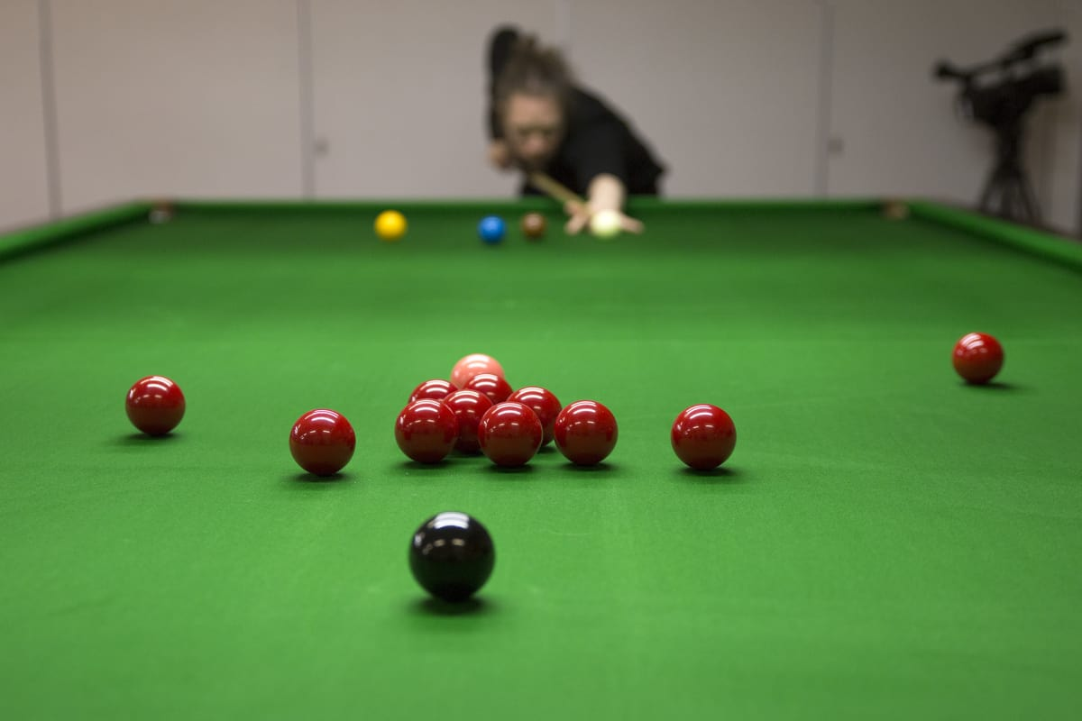 Snooker peli.