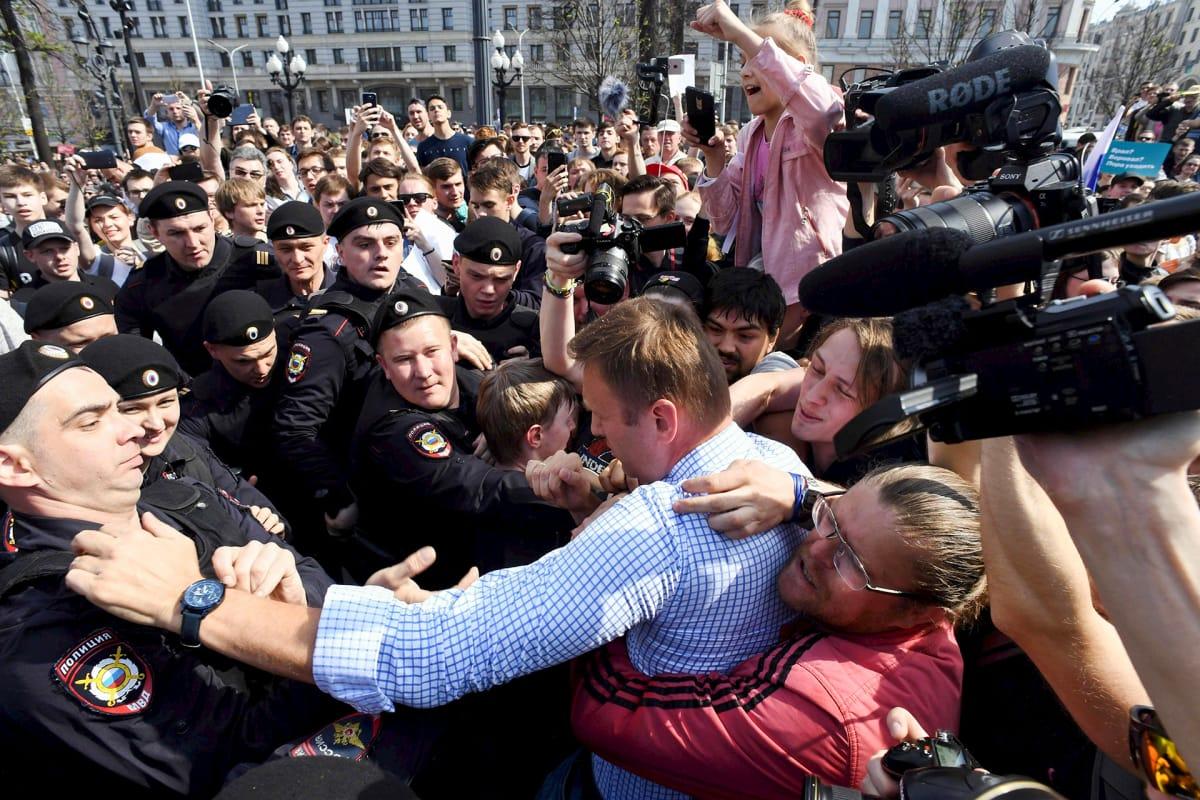 Oppositiojohtaja Aleksei Navalnyi.