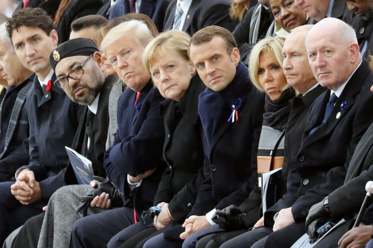 Valtionjohtajat kokoontuivat Pariisiin muistamaan  ensimmäisen maailmansodan päättymistä.