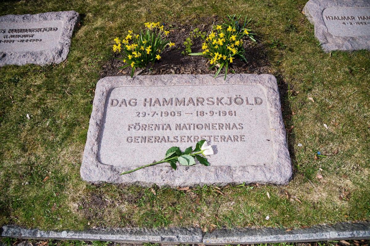 Dag Hammarskjöldin perhehauta.