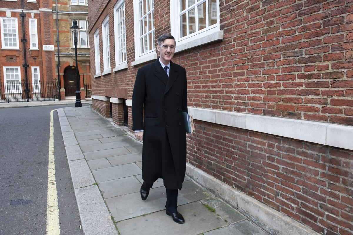 Kansanedustaja Jacob Rees-Mogg.