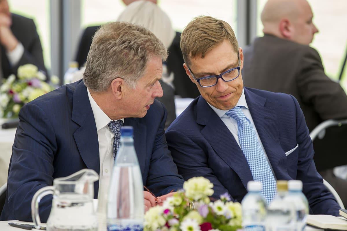 Sauli Niinistö ja Alexander Stubb