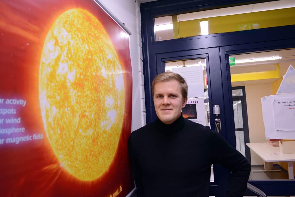 Oulun yliopiston avaruusfysiikan tutkija Lauri Holappa.