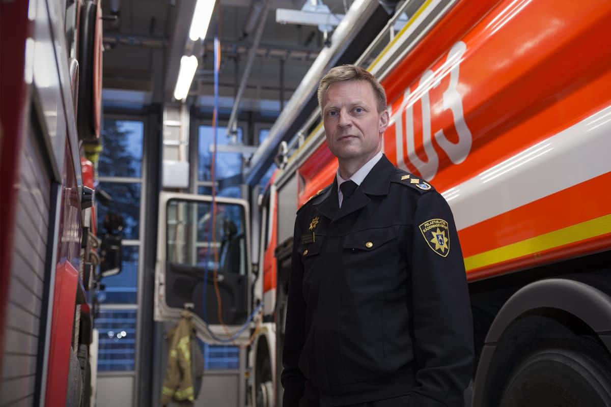 Veli-Pekka Ihamäki, pelastusjohtaja, Länsi-Uudenmaan pelastuslaitos.