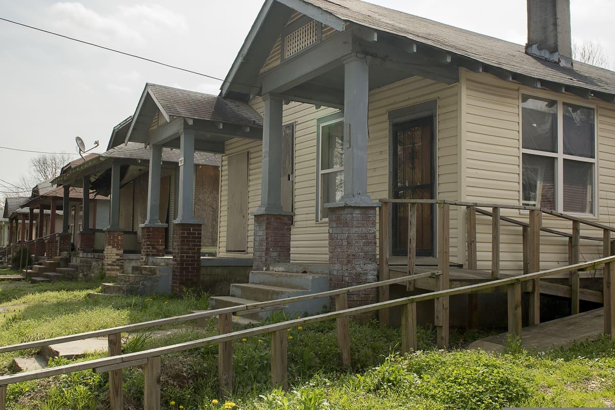 Memphisin eteläosissa asunnot ovat pienempiä kuin muualla kaupungissa.