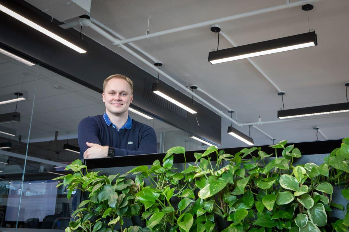 Älyviherseiniä valmistavan Naavan perustaja ja Yhdysvaltain toimintojen johtaja Niko Järvinen.