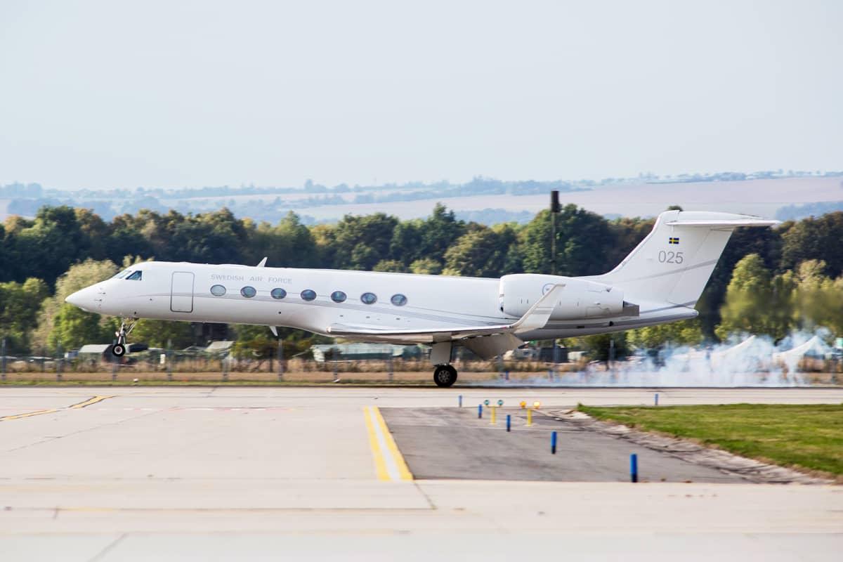 Ruotsin ilmavoimien Gulfstream G550 matkustajakone