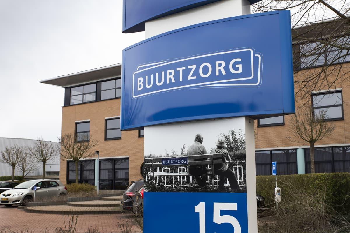 Buurtzorg-yhtiön pääkonttori Almelon kaupungissa Hollannissa.