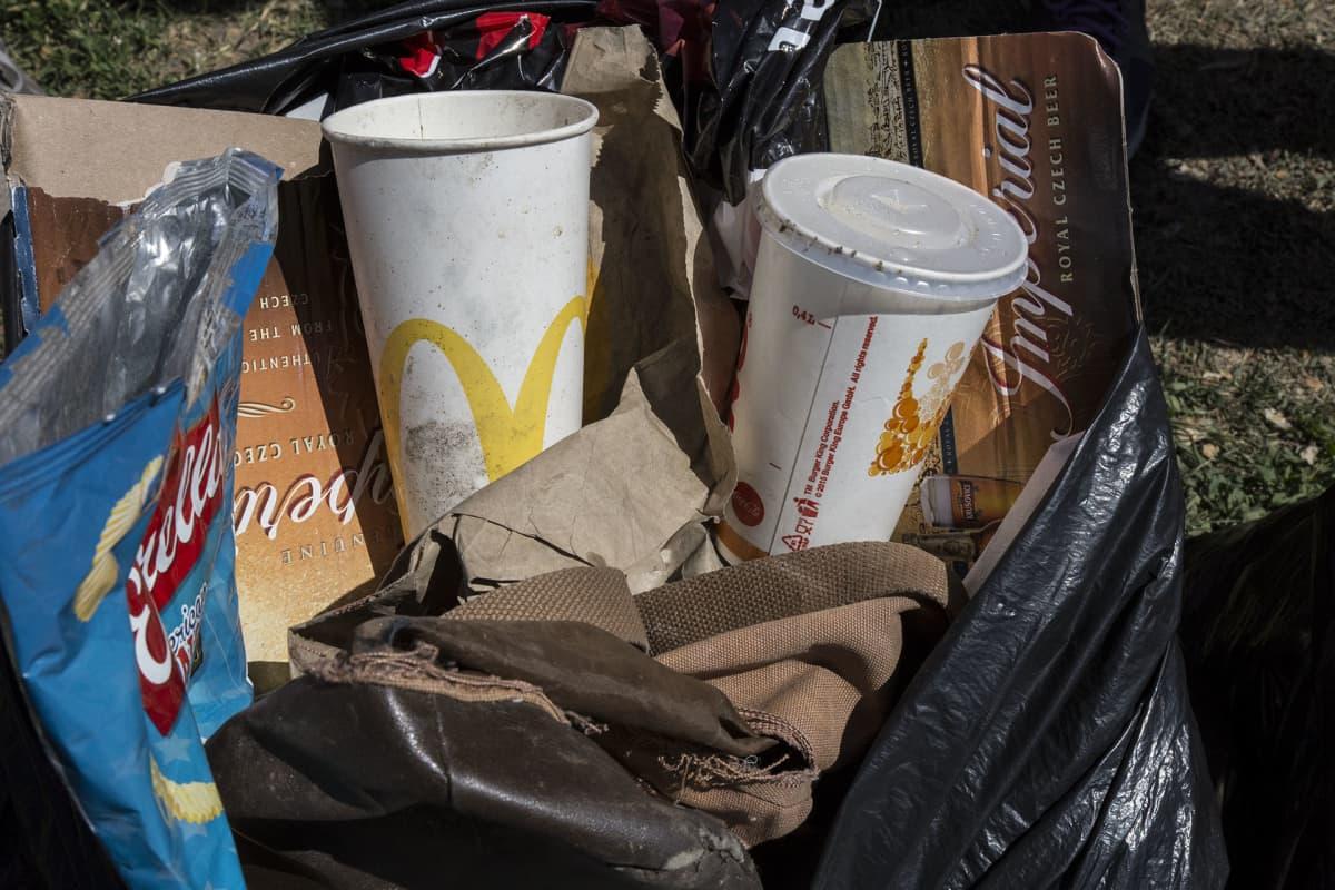 ploggaaminen, roskajuoksu, jäte, roska