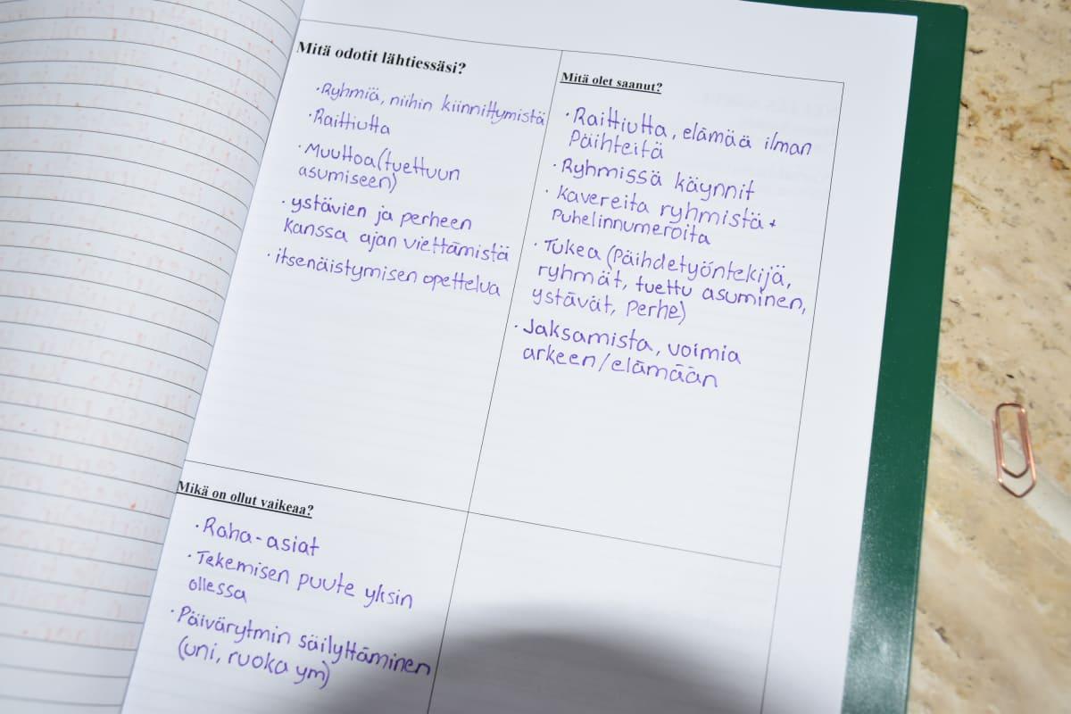 Päihdehoidon päiväkirja.