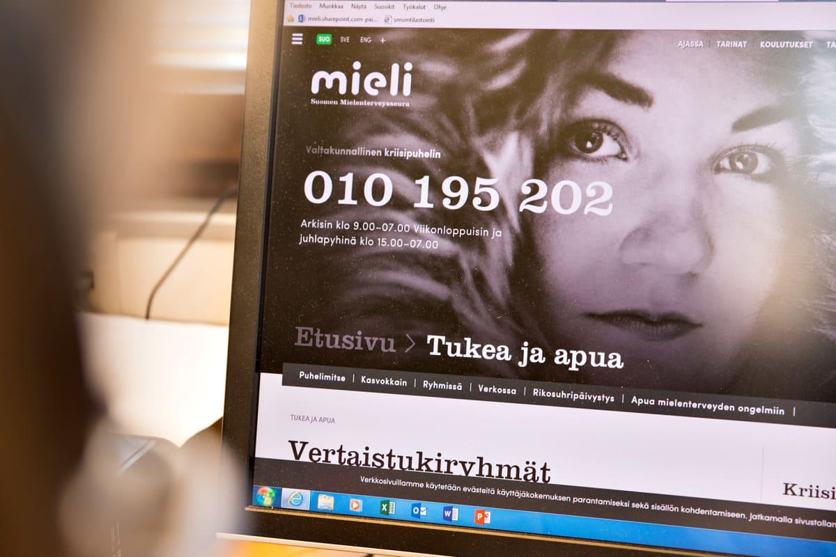 Suomen Mielenterveysseuran nettisivut.
