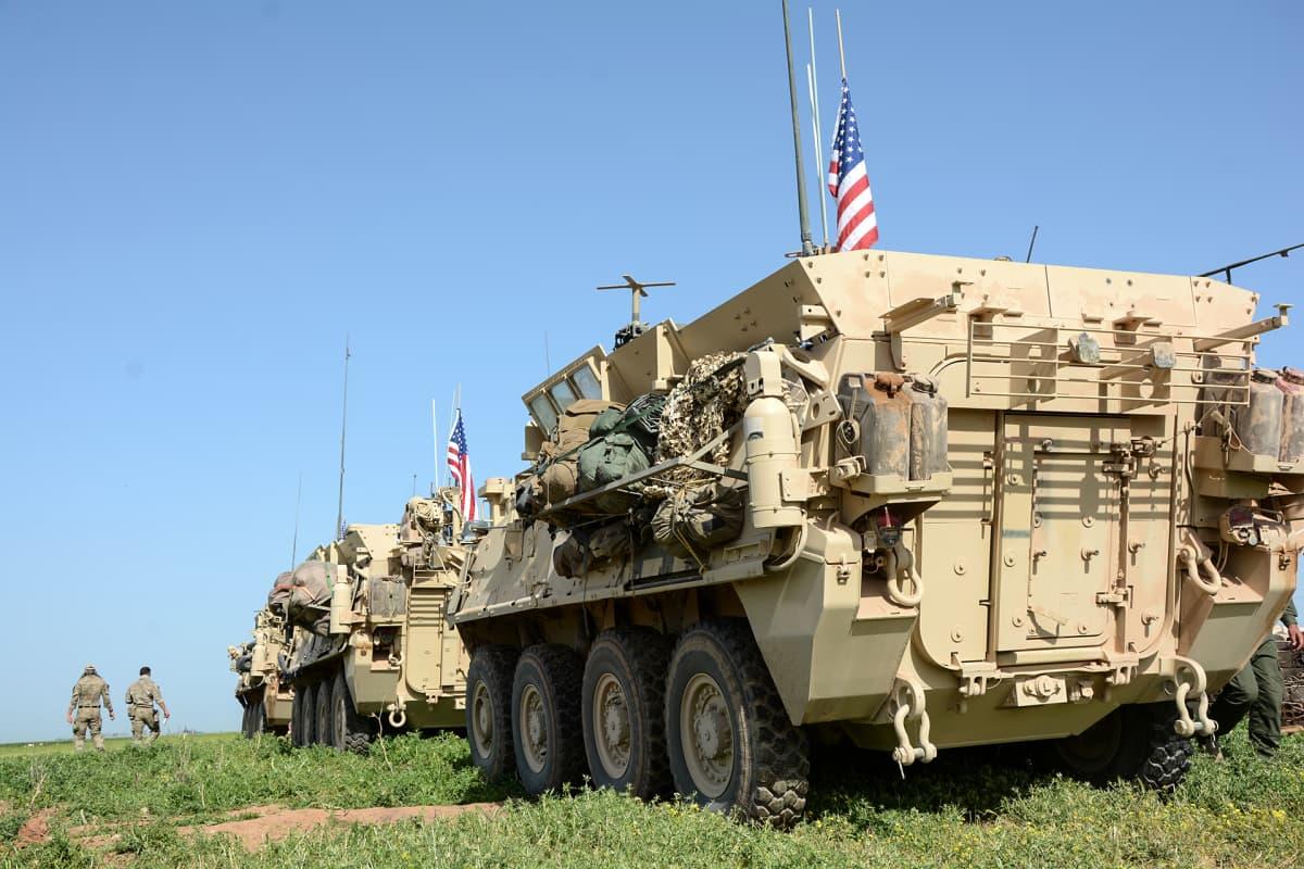 Yhdysvaltain armeijan sotilaita Syyrian ja Turkin rajalla.