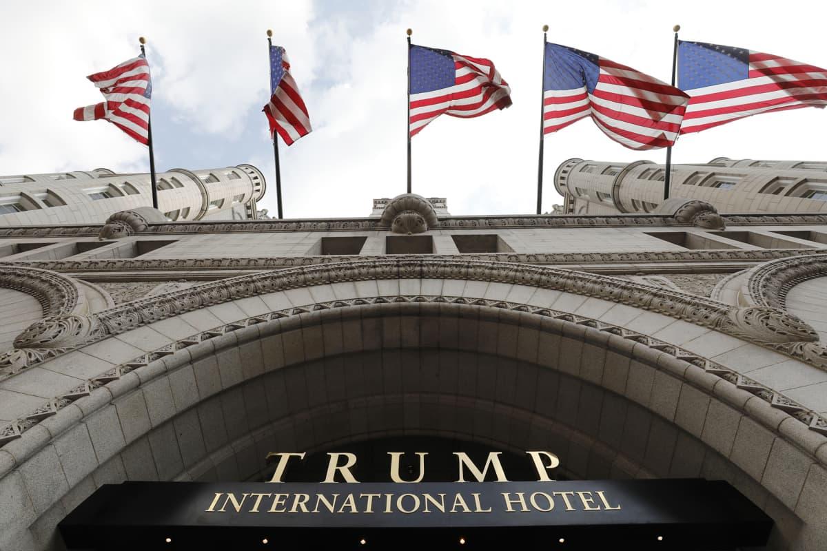 Trump International -hotelli avattiin Washingtonissa syksyllä 2016.