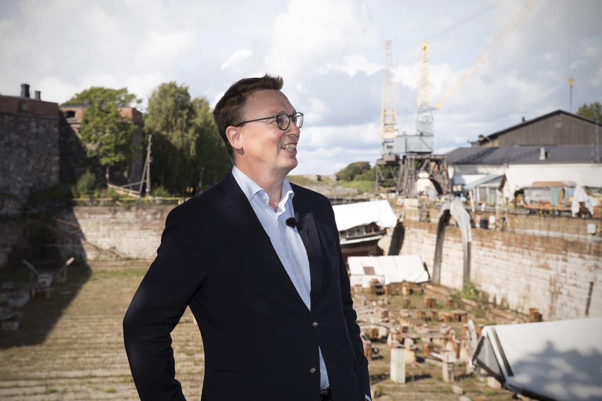 Petteri Takkula, kehittämispäällikkö, Suomenlinnan hoitokunta.