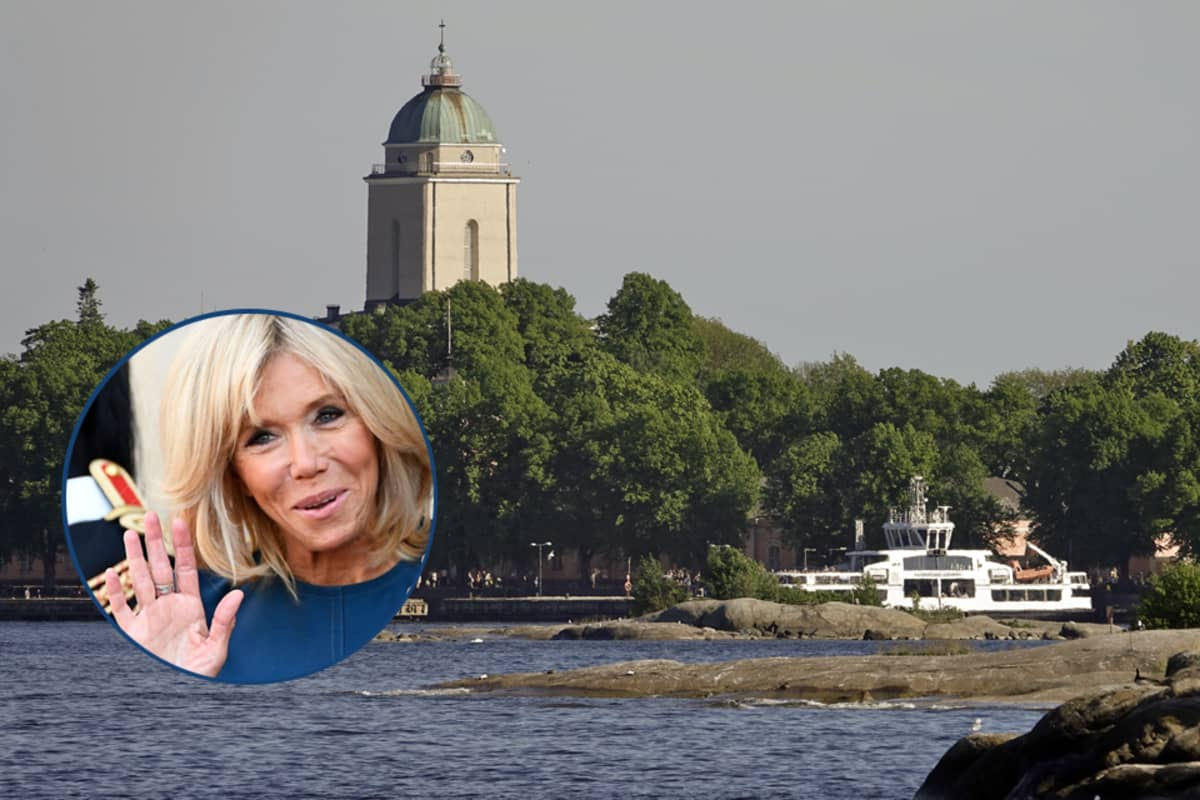 Brigitte Macron tutustuu Suomen-vierailullaan mm. Suomenlinnaan.