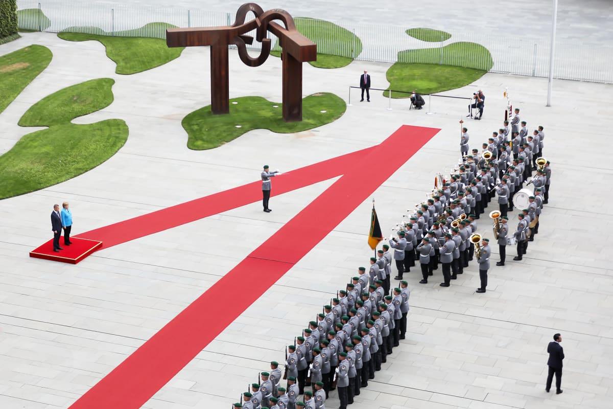 Angela Merkel ja Andrej Babis.