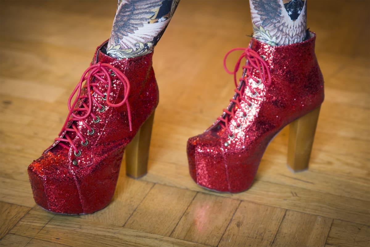 lolita, katumuoti, kengät, glitter, Freaky Angel