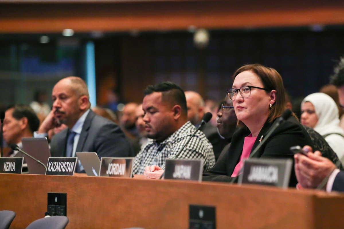 Kokoussali Bangkokin virkamiestason ilmastoneuvotteluissa syyskuussa 2018