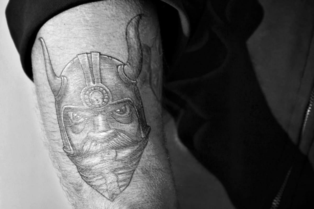 Mika Ranta Odin-tatuointi.