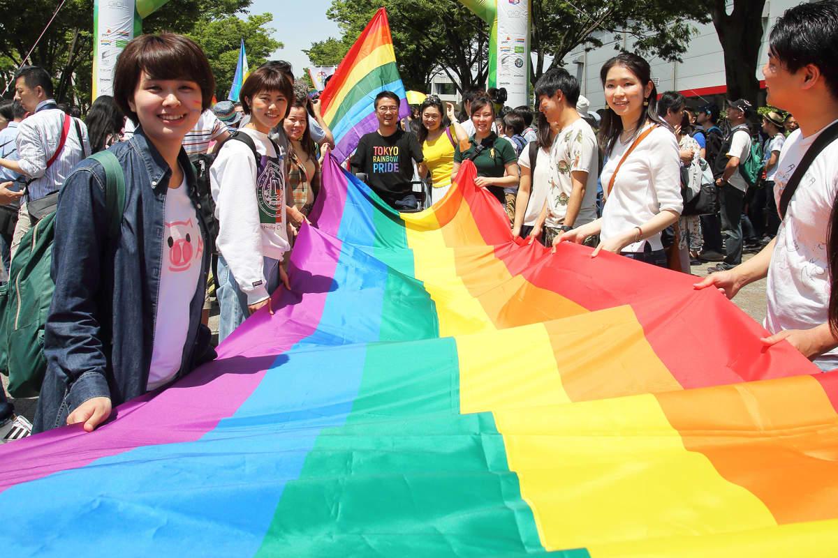 Pride-tapahtuma Tokiossa toukokuussa 2018.
