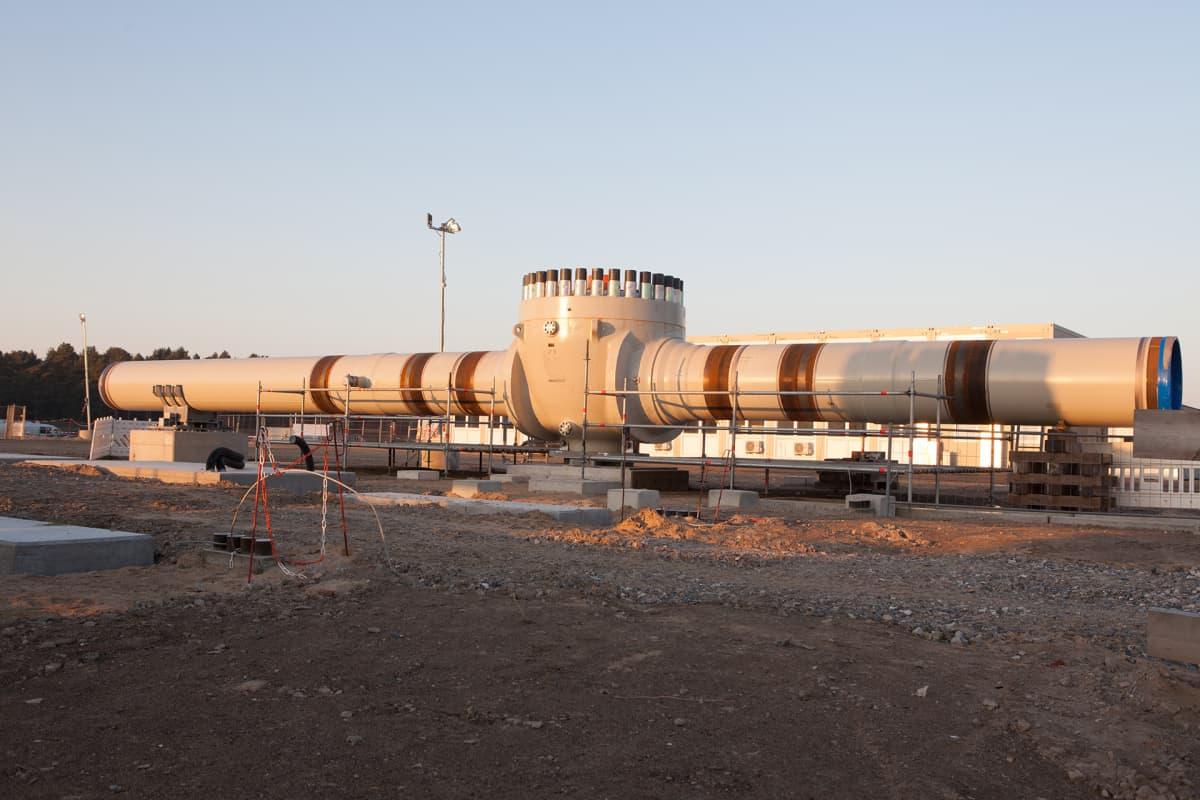 Saksa Nord Stream 2-venttiili Lubminissa Saksan rantautumispaikka.