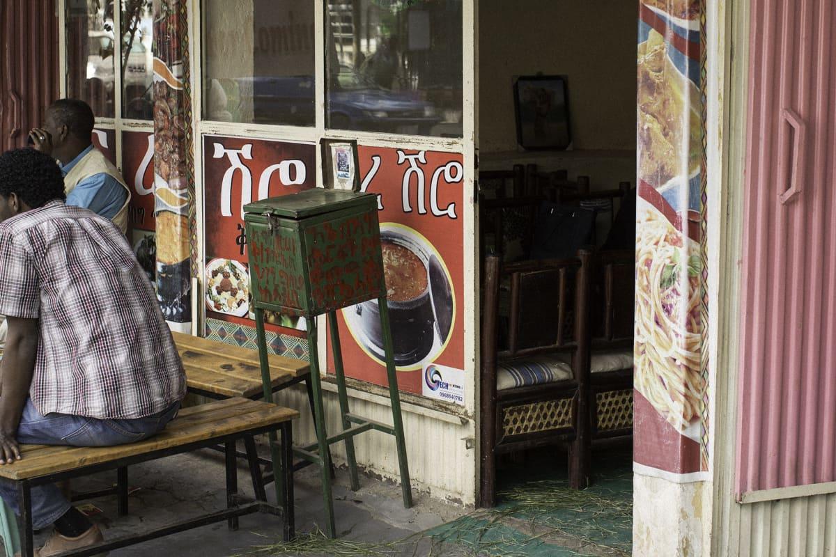 Ravintola Addis Abebassa.