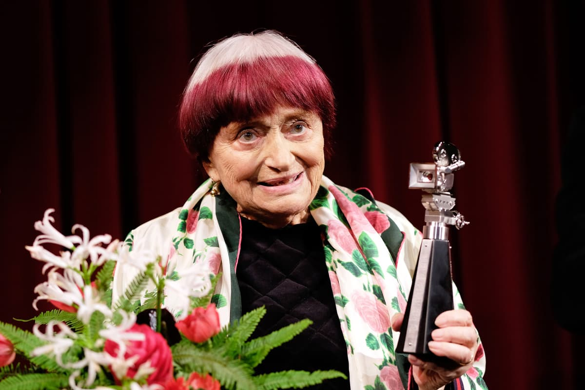 Agnes Varda Berliininelokuvajuhlilla helmikuussa 2019.