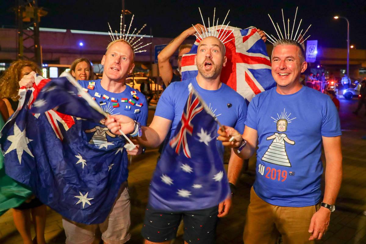 Australian viisufaneja Tel Avivissa.