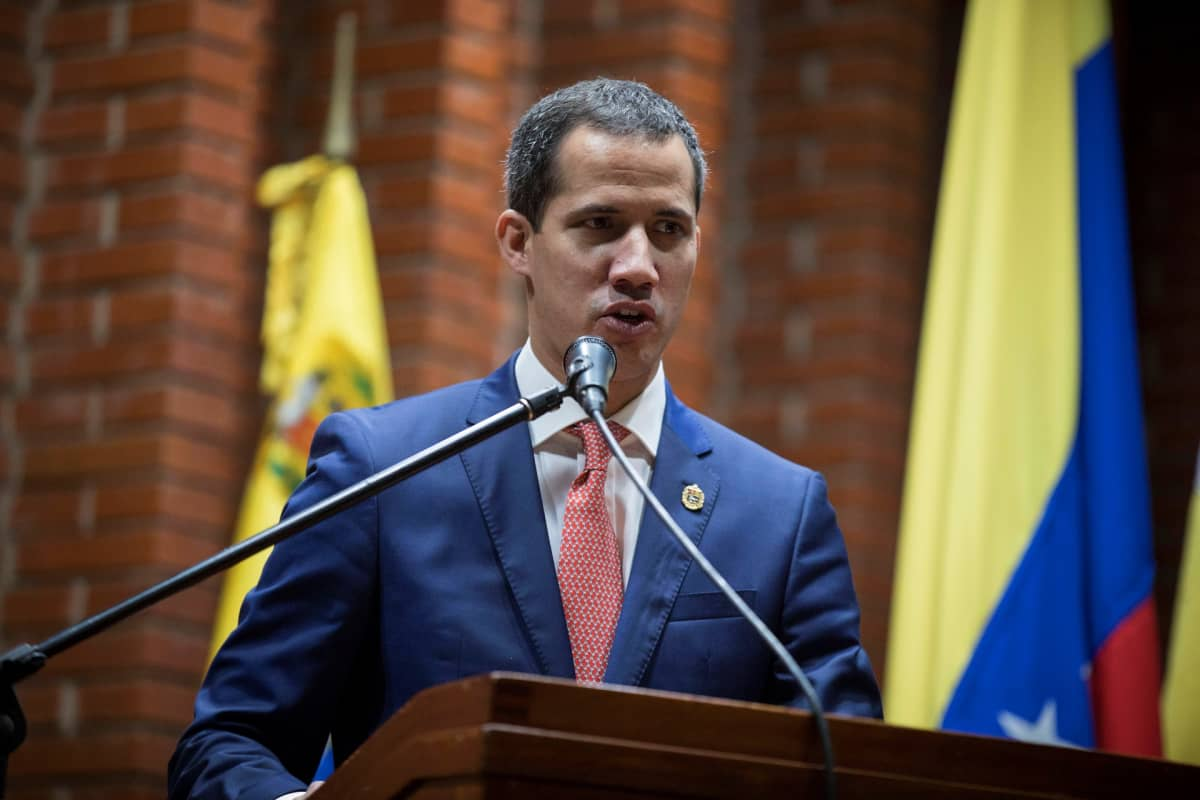 Venezuelan oppositiojohtaja Juan Guaido.