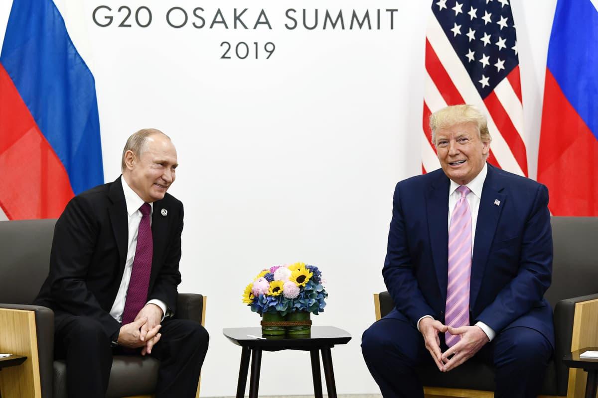 Vladimir Putin ja Donald Trump tapasivat G20-kokouksessa Osakassa