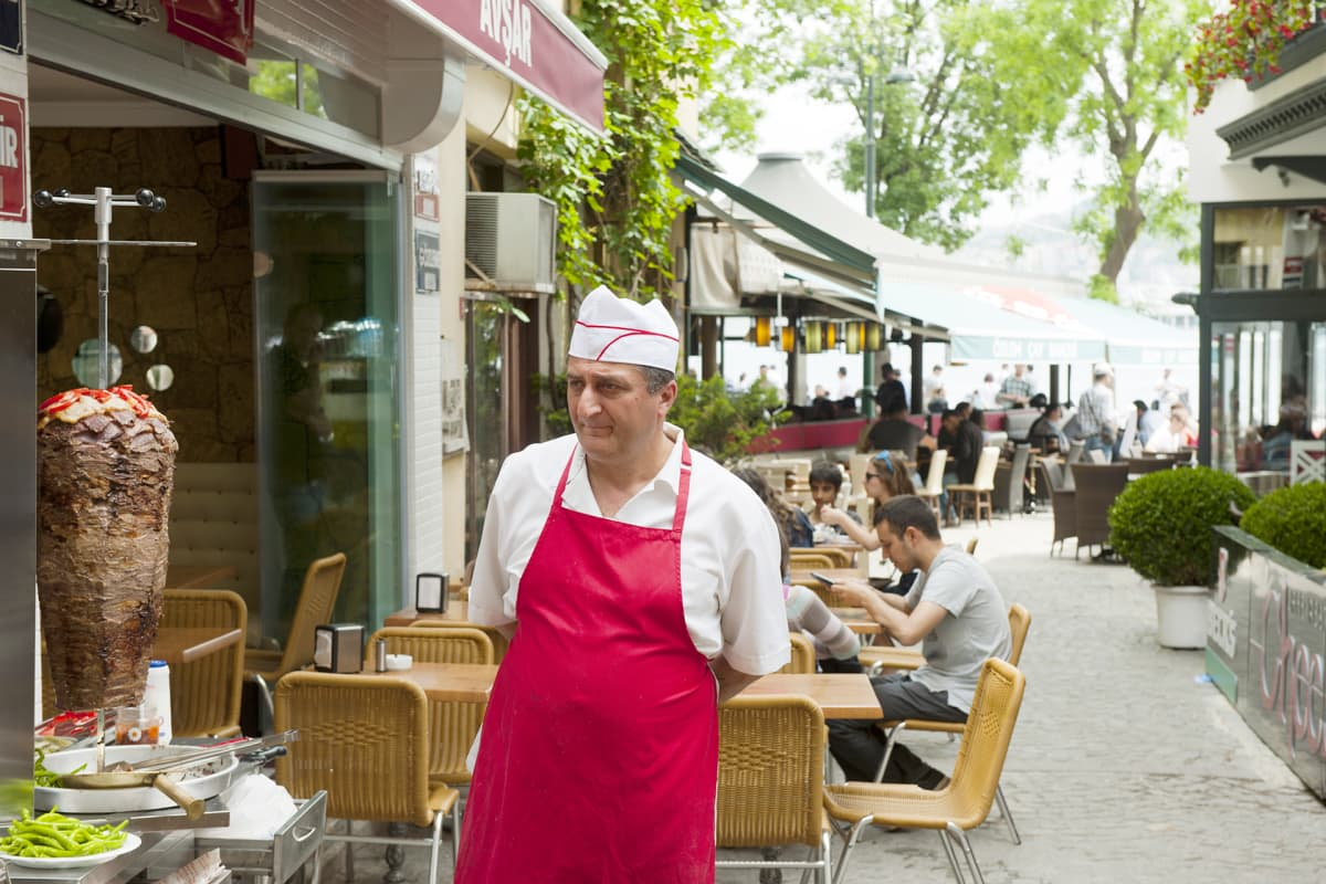 Kebab-ravintola Turkin Istanbulissa.