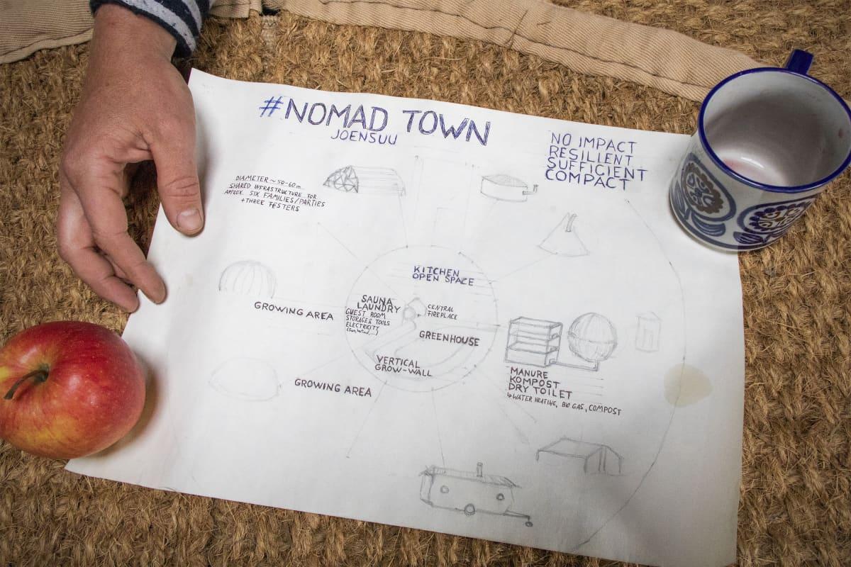 Nomad Town Joensuun aluekartta.