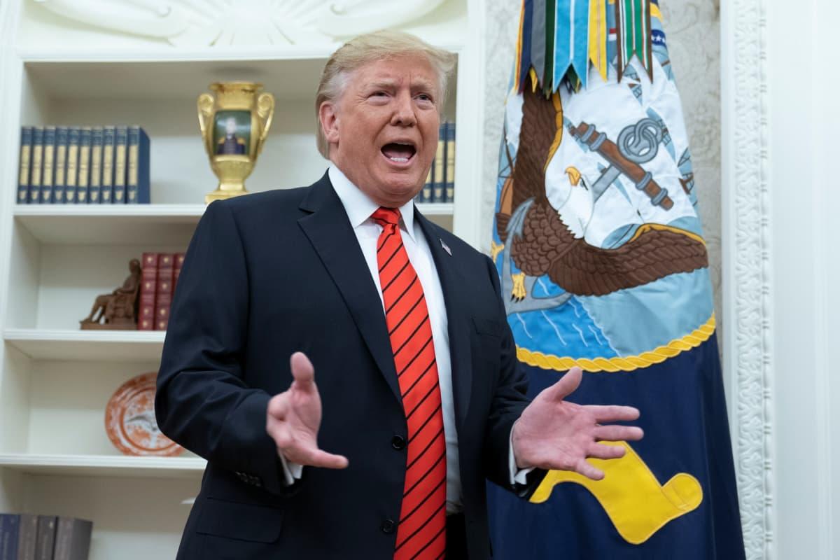 Yhdysvaltojen presidentti Donald Trump Valkoisessa talossa 30. syyskuuta.