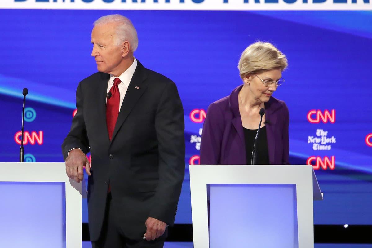 Joe Biden ja Elizabeth Warren